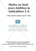 Mathe an Stationen: Halbschriftliche Addition (ZR bis 1000) Preview 2