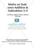 Mathe an Stationen: Schriftliche Addition (ZR bis 1000 mit Übertrag) Preview 2