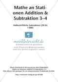 Mathe an Stationen: Halbschriftliche Subtraktion (ZR bis 1000) Preview 2