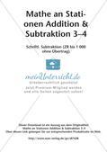Mathe an Stationen: Schriftliche Subtraktion (ZR bis 1000 ohne Übertrag) Preview 2