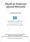 Physik an Stationen: Mechanik - Physikalische Größen Preview 2