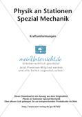 Physik an Stationen: Mechanik - Kraftumformungen Preview 2