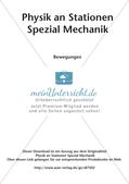 Physik an Stationen: Mechanik - Bewegungen Preview 2