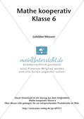 Mathe kooperativ Klasse 6: Leitidee Messen Preview 2