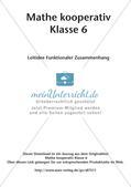 Mathe kooperativ Klasse 6: Leitidee Funktionaler Zusammenhang Preview 2