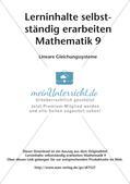 Lerninhalte selbstständig erarbeiten Thema Lineare Gleichungssysteme Preview 2