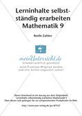 Lerninhalte selbstständig erarbeiten Thema Reelle Zahlen Preview 2