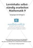 Lerninhalte selbstständig erarbeiten Thema Satzgruppe des Pythagoras Preview 2