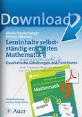 Lerninhalte selbstständig erarbeiten Thema Quadratische Gleichungen und Funktionen Preview 1