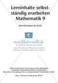 Lerninhalte selbstständig erarbeiten Thema Berechnungen am Kreis Preview 2