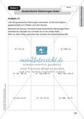 Mathe an Stationen - Inklusion: Quadratische Gleichungen Preview 5