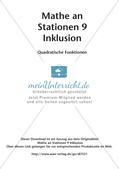 Mathe an Stationen - Inklusion: Quadratische Funktionen Preview 2