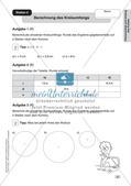 Mathe an Stationen - Inklusion: Flächeninhalt und Umfang des Kreises Preview 4