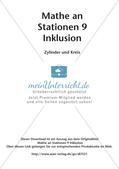 Mathe an Stationen - Inklusion: Zylinder und Kreis Preview 2