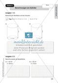 Mathe an Stationen - Inklusion: Zylinder und Kreis Preview 5
