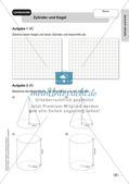Mathe an Stationen - Inklusion: Zylinder und Kreis Preview 7