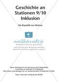 Geschichte an Stationen - Inklusion: Die Republik von Weimar Preview 2