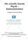 Die schnelle Stunde Physik: Elektrizitätslehre Preview 2