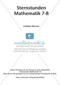 Sternstunden Mathematik: Leitidee Messen Preview 2