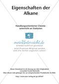 Chemie an Stationen: Eigenschaften der Alkane Preview 2