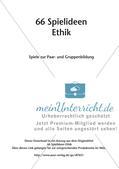 66 Spielideen Ethik: Spiele zur Paar- und Gruppenbildung Preview 2