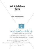 66 Spielideen Ethik: Brett- und Schreibspiele Preview 2