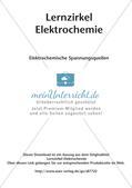 Lernzirkel Elektrochemie: Elektrochemische Spannungsquellen Preview 2