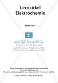 Lernzirkel Elektrochemie: Elektrolyse Preview 2