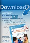 Portfolio im Mathematikunterricht - Blankovorlage Preview 1