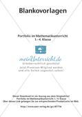 Portfolio im Mathematikunterricht - Blankovorlage Preview 2