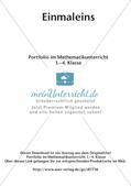 Portfolio im Mathematikunterricht - Einmaleins Preview 2