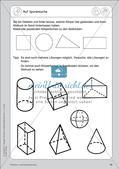 Portfolio im Mathematikunterricht - Flächen- und Körperformen Preview 12
