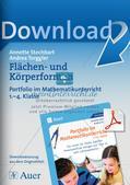 Portfolio im Mathematikunterricht - Flächen- und Körperformen Preview 1
