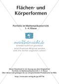 Portfolio im Mathematikunterricht - Flächen- und Körperformen Preview 2
