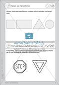 Portfolio im Mathematikunterricht - Flächen- und Körperformen Preview 3