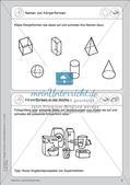 Portfolio im Mathematikunterricht - Flächen- und Körperformen Preview 4