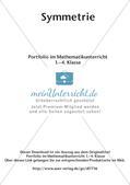 Portfolio im Mathematikunterricht - Symmetrie Preview 2