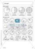 Portfolio im Mathematikunterricht - Die Uhr Preview 12