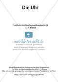 Portfolio im Mathematikunterricht - Die Uhr Preview 2