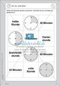 Portfolio im Mathematikunterricht - Die Uhr Preview 4