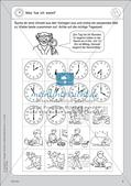 Portfolio im Mathematikunterricht - Die Uhr Preview 5