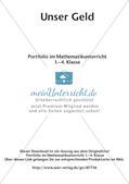 Portfolio im Mathematikunterricht - Unser Geld Preview 2