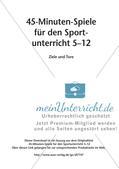 45-Minuten-Spiele für den Sportunterricht: Ziele und Tore Preview 2