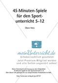 45-Minuten-Spiele für den Sportunterricht: Übers Netz Preview 2