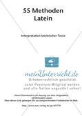 Methoden - Interpretation lateinischer Texte Preview 2