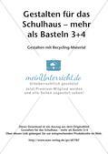 Gestalten für das Schulhaus: Recycling Preview 2