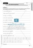 Mathe an Stationen: Terme und Gleichungen Preview 9