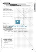 Mathe an Stationen: Lineare Funktionen Preview 17