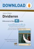 Dividieren: Differenzierte Übungsmaterialien Preview 1