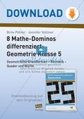 Mathe-Dominos Geometrie: Geometrische Grundformen (differenziert) Preview 1
